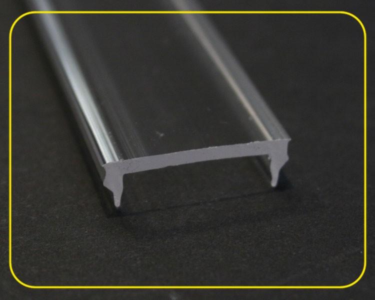 2 m flache glasklare Abdeckung für Profil 126-985 – Bild 2