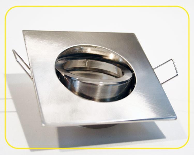 eckiger Druckguss Einbaurahmen eisengebürstet +Klickverschluß – Bild 2