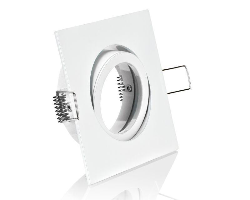 eckiger Druckguss Einbaurahmen weiß +Klickverschluß – Bild 1