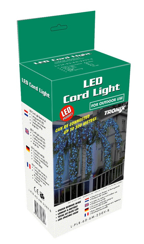 LED Cord Light 6 m,60 ww LEDs weißes Kabel,IP44 – Bild 3