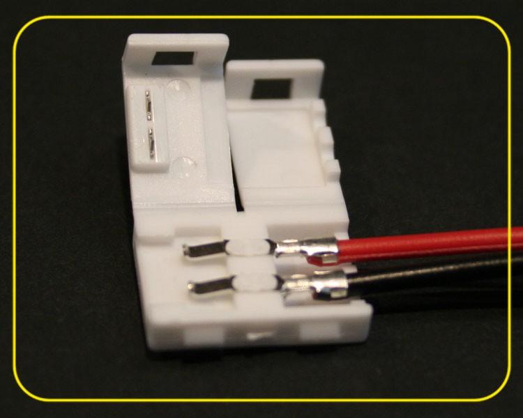Einspeiser Clip 2-adrig einfarbigen LED Streifen – Bild 2