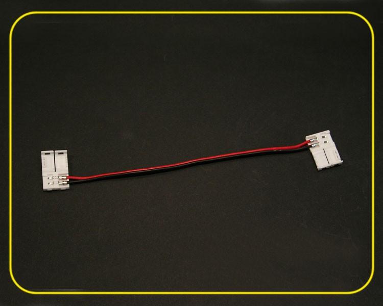 Verbindungskabel mit 2 Clipsen für LED Streifen einfarbig – Bild 4