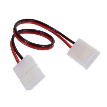 Verbindungskabel mit 2 Clipsen für LED Streifen einfarbig – Bild 1
