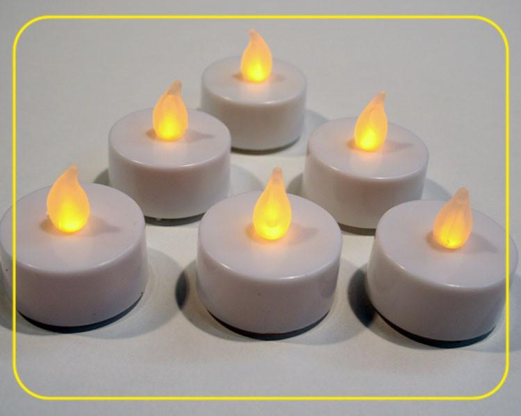 LED Teelichter mit Batterie, 6er Set im Blister – Bild 1