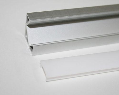 2m Alu | Eck L-Profil 45° | 19x19mm | weiß matte Abdeckung – Bild 4