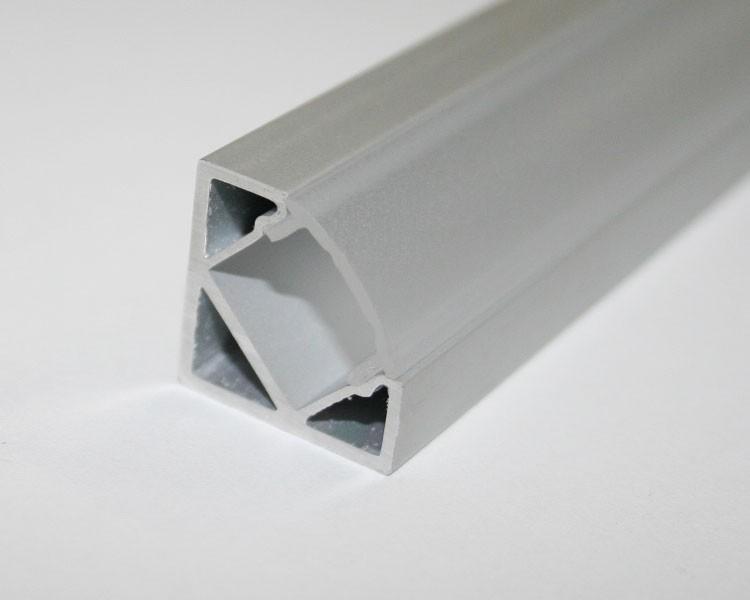2m Alu | Eck L-Profil 45° | 19x19mm | milchiger Abdeckung – Bild 5
