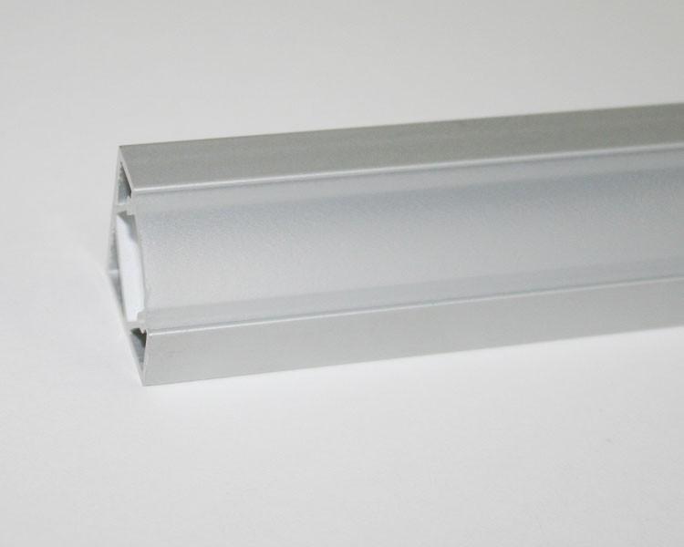 2m Alu | Eck L-Profil 45° | 19x19mm | milchiger Abdeckung – Bild 6