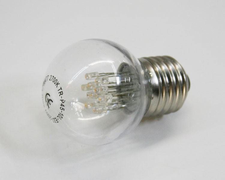 E27 LED Birne klar 2W, 230V warmweiß – Bild 1