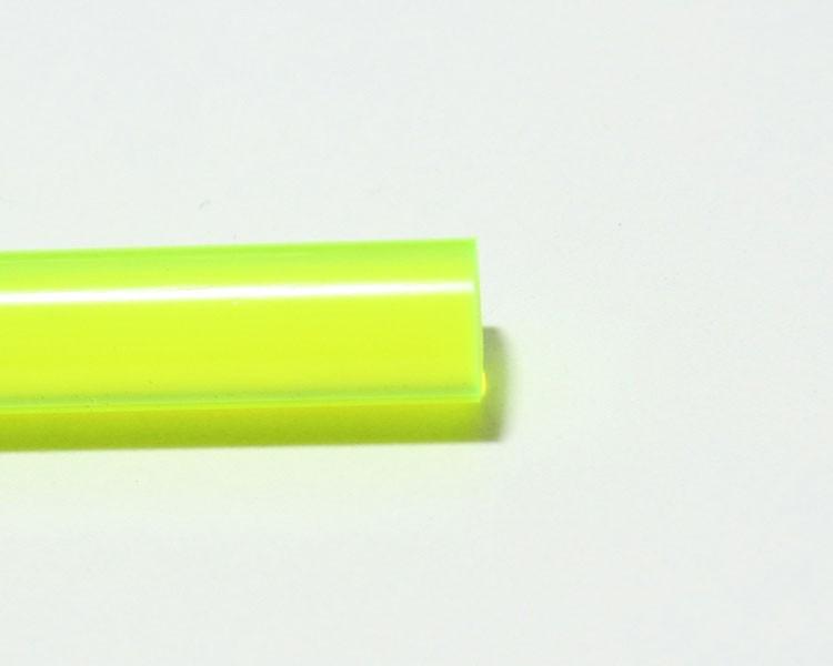 2m Glow PVC Rundstab fluo gelb-grün Ø 10 mm – Bild 2