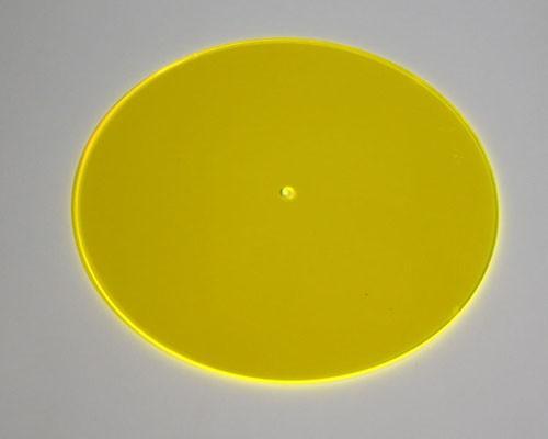 gelbe Sonnenfänger Scheibe Ø 200x3mm Acryl GS fluo – Bild 1
