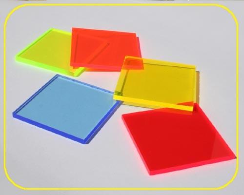 Lucy Platte 3mm | 504x335 mm | fluoresz. blau – Bild 1