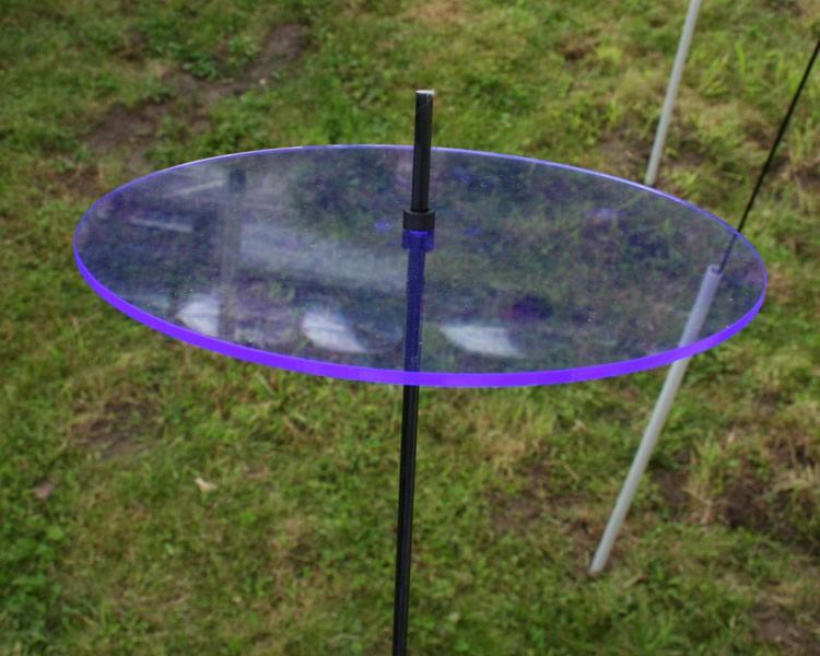 fluo Sonnenfänger Ø 200x3mm blau mit 1m Schwingstab + 2 Stopper – Bild 1