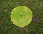 fluo Sonnenfänger Ø 200x3mm gelb mit 1m Schwingstab + 2 Stopper – Bild 1