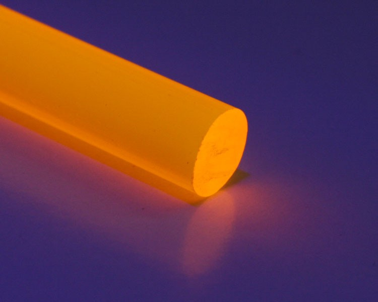 2m Glow PVC Rundstab fluo orange Ø 10 mm – Bild 1