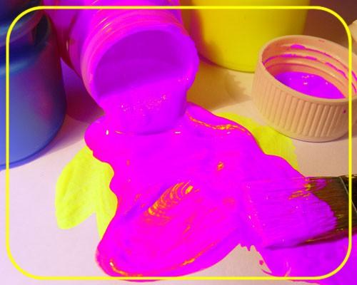 Tagesleucht Dispersionsfarbe fluo 250 ml violett – Bild 1