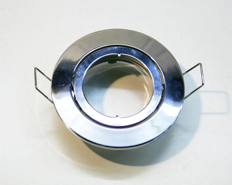 Druckguss Einbaurahmen chrom + Schnellspannkopf – Bild 1