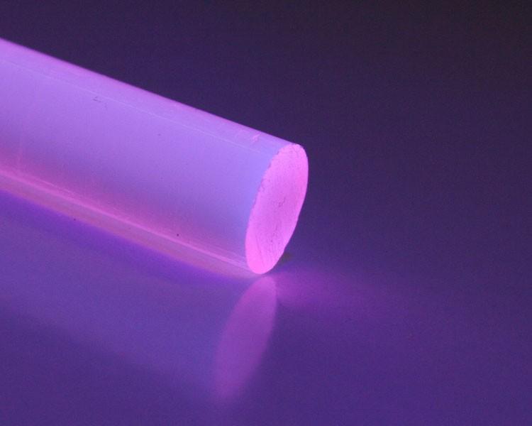 2m Glow PVC Rundstab fluo rosa Ø 10 mm – Bild 1