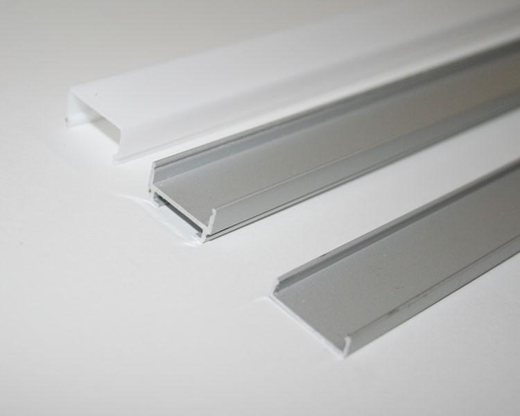 1m U-Profil | Alu | 20x20mm | weiß matte Abdeckung | 3 Teile – Bild 5