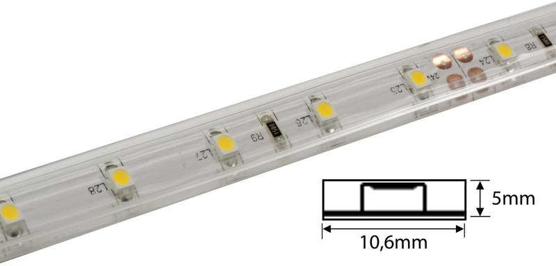 LED Streifen 5m | Warmweiß  | 24V 24W IP68 Unterwasser | 300 LEDs | dimmbar | Unterwasser