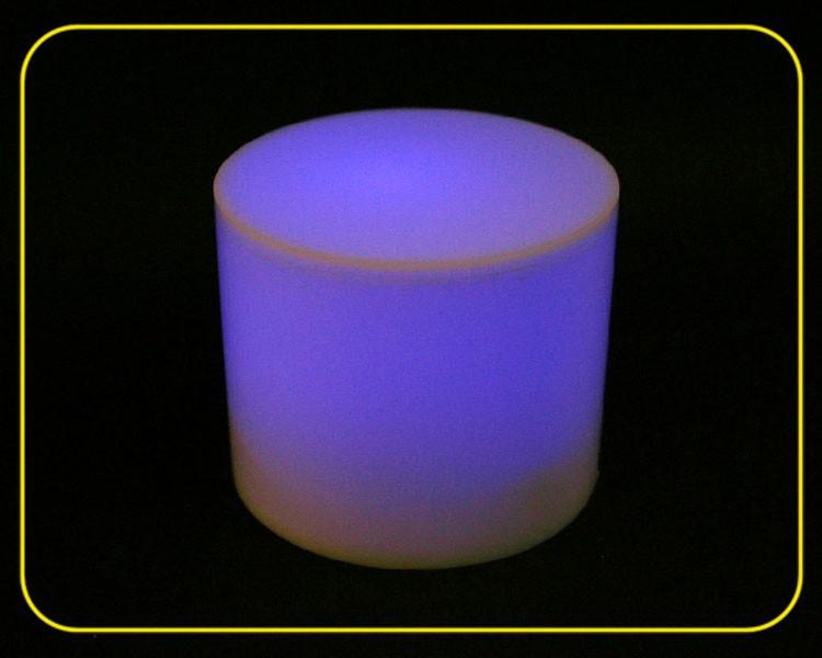 LED Zylinder RGB slow, Acryl weiß – Bild 1