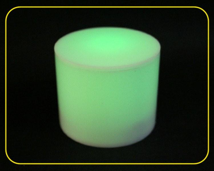 LED Zylinder RGB slow, Acryl weiß – Bild 4