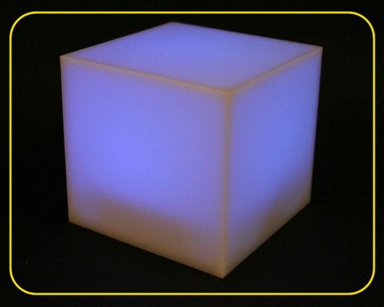 LED Würfel RGB slow, Acryl weiß – Bild 3