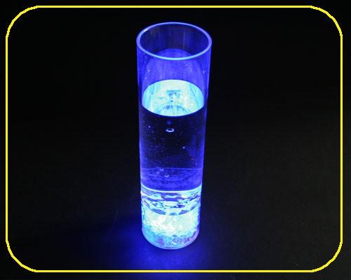 LED Longdrink PS-Glas blau, 280ml/10 Oz, 3 Funkt. – Bild 1