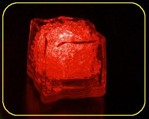 LED Deko Eiswürfel, rundes Design - Rot  – Bild 1