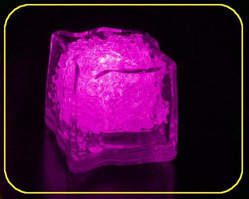 LED Deko Eiswürfel, rundes Design - Pink – Bild 1