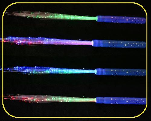 LED Glasfaserlampe Rainbow,8 Funkt. Griff farbl. sortiert in blau,grün,rot – Bild 2