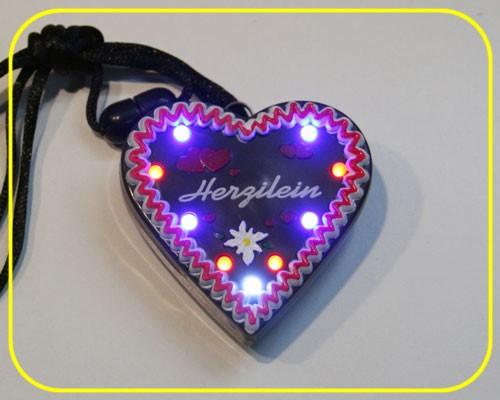 "LED Lebkuchenherz ""Herzilein"" 9 LEDs inkl. Batt. – Bild 1"