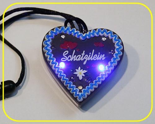 """LED Lebkuchenherz """"Schatzilein"""" 9 LEDs inkl. Batt. – Bild 1"""