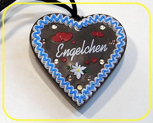 "LED Lebkuchenherz ""Engelchen"" 9 LEDs inkl. Batt. – Bild 1"