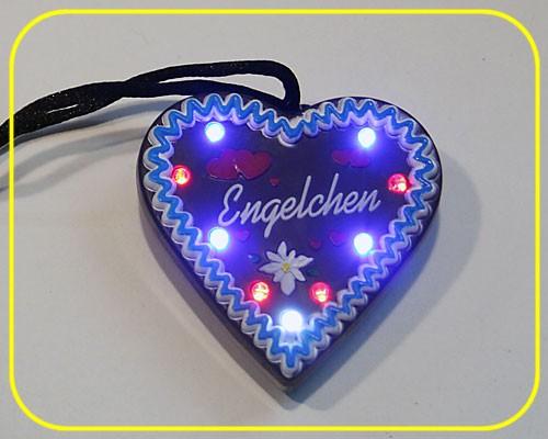 "LED Lebkuchenherz ""Engelchen"" 9 LEDs inkl. Batt. – Bild 2"