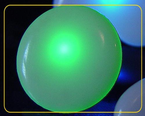 Blinkie KREIS Ø 28 mm mit LED Farbwechsel – Bild 1