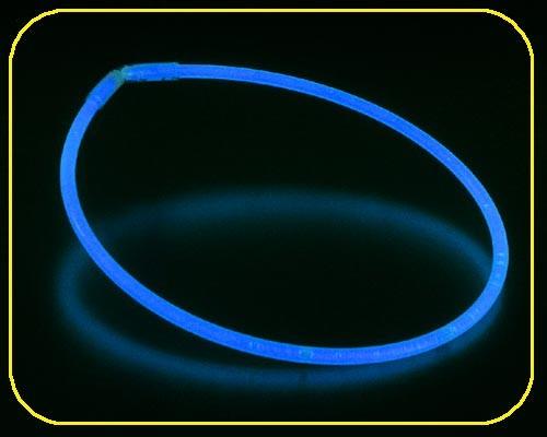 Knicklicht Halsbänder 55 cm, blau, mit 50 Verbindern – Bild 1