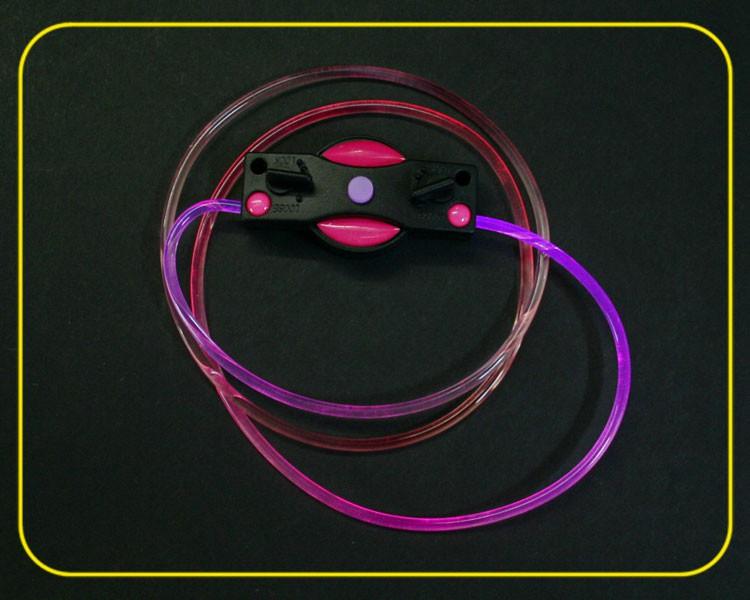 2 LED Schnürsenkel pink leuchtend – Bild 3