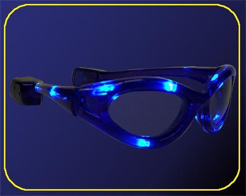 LED-Sonnenbrillen blau blinkend in Tüte – Bild 1