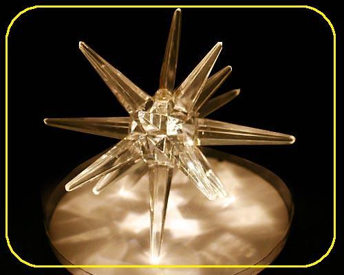 LED Acryl Stern 10cm warmweiß ohne Batterien – Bild 2