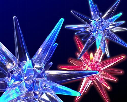 LED Acryl Stern 10cm, ROP Farbwechsel  – Bild 2