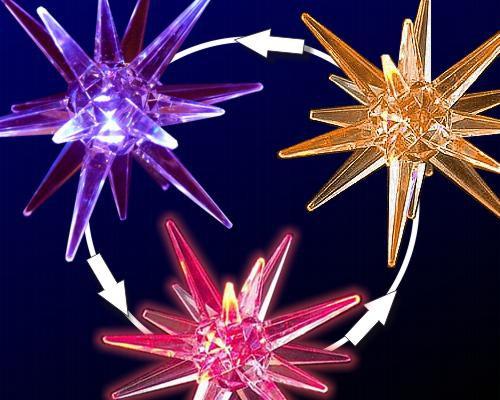 LED Acryl Stern 10cm, ROP Farbwechsel  – Bild 1