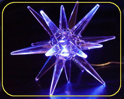 LED Acryl Stern 10 cm blau leuchtend – Bild 1