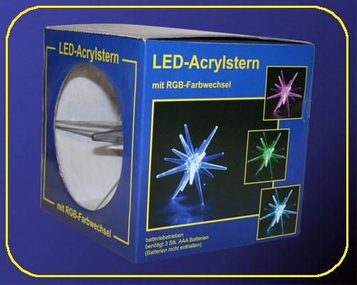 grosser LED Acryl Stern 20 cm RGB Farbwechsel – Bild 4