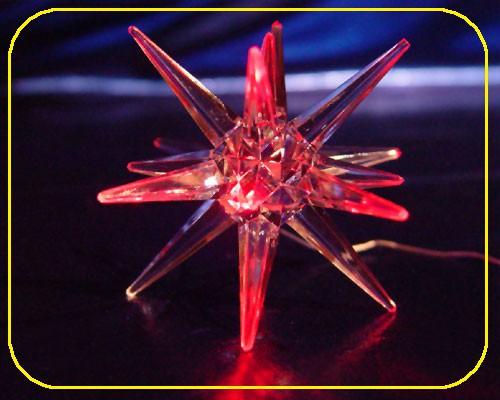 LED Acryl Stern 10 cm Rot leuchtend – Bild 1
