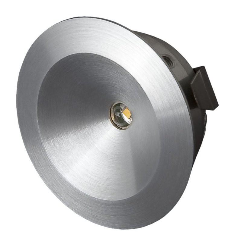 LED Möbel Einbaustrahler Alu 2,5W | Warmweiß+ 2700K 129lm| 42mm