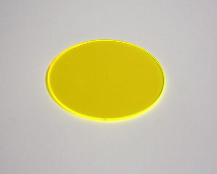 gelbe Fluo Scheibe Ø 48 x 3 mm ohne Loch – Bild 1