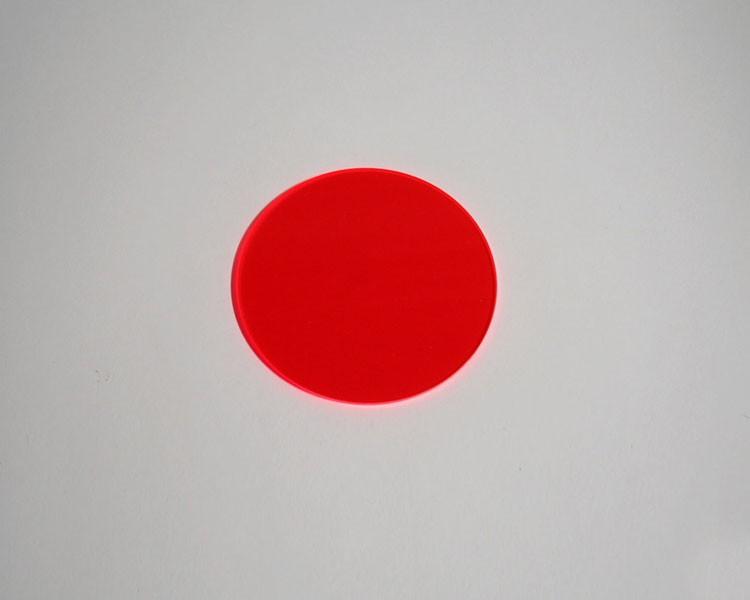 rote Fluo Scheibe Ø 48 x 3 mm ohne Loch – Bild 1