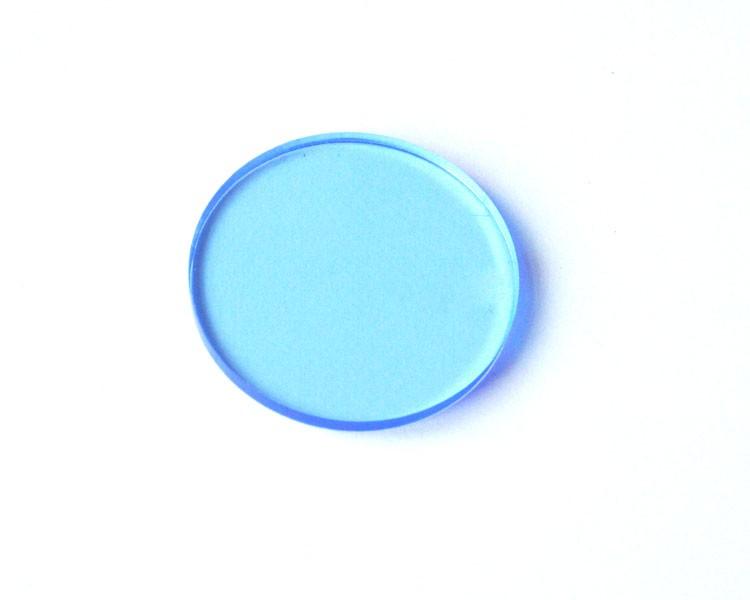 blaue fluo Scheibe Ø 32 x 3 mm ohne Loch – Bild 1
