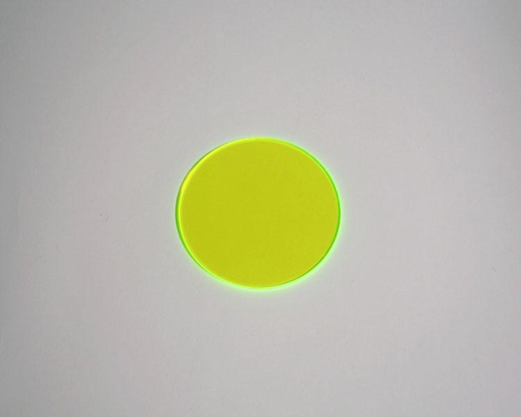 grüne fluo Scheibe Ø 32 x 3 mm ohne Loch – Bild 1