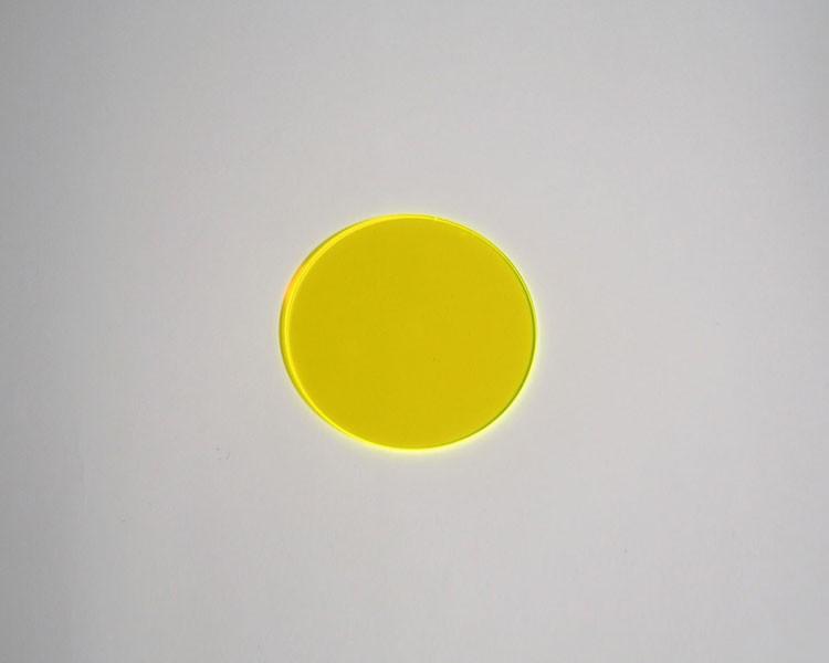 gelbe fluo Scheibe Ø 32 x 3 mm ohne Loch – Bild 1